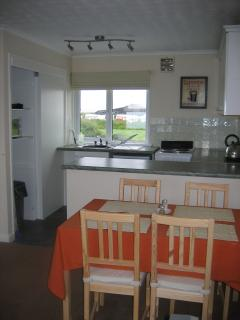 The Dining and Kitchen area