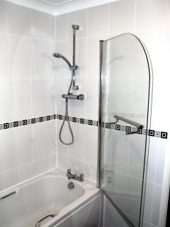 New bathroom with shower and screen