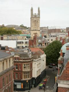 View from the balcony of Bristol city centre
