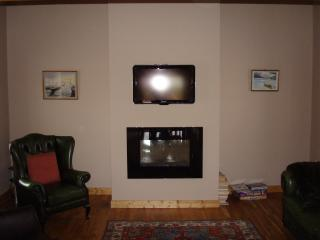 Sitting Room with fire and flat-screen TV