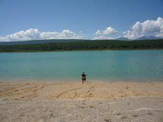 Lac Montbel , 15 minutes drive away , a restaurant is there, eat, drink, swim and sun bathe