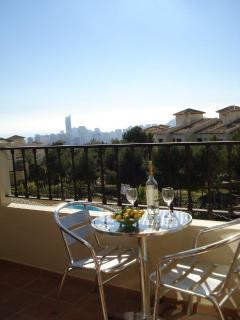 ...... opens to a private terrace with fabulous views