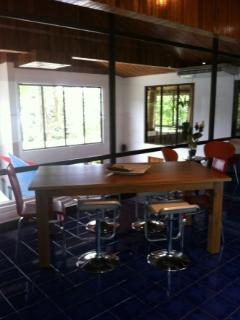 Dining area in the open kitchen with stunning views!