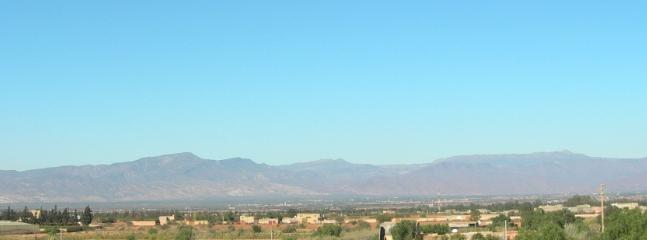 The Atlas mountain from  the riad