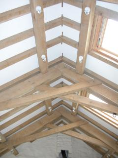 Traditional exposed beams in the main sitting room