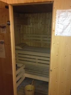 Sauna located in the spa area alongside the hot tub, shower, W.C. and of course, heated towel rails
