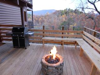 SECLUDED,20 Mile Mtn View,Gas Firepit,Theater Room, Pigeon Forge