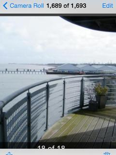 View from one area of the large wrap around balcony with stunning views of the waterfront
