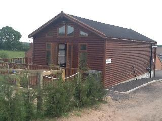 Luxury log cabin on a horse farm riding school, Ravenshead