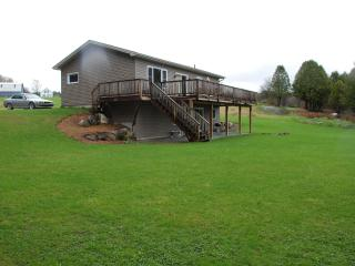 Lakefront Home with Dock, Beach and on Vast Trail, Newport Center