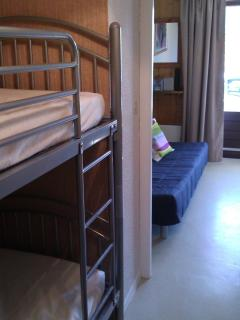 Bunk Beds into lounge area
