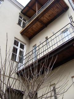 The balcony from below