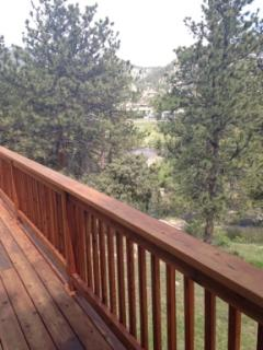 Deck With Mountain And River Views