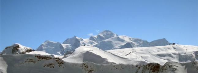 scenic ski area with superb views of Mont Blanc
