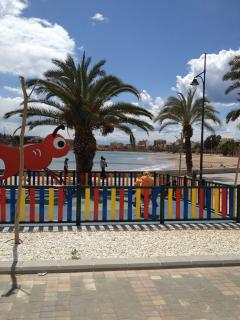 Childrens play area in Mazzaron beach (10mins drive)