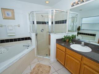 Main Bathroom with shower and bath - his and hers sinks
