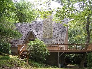 Meadows Cottage a story Book A-Frame in wooded setting with Grandfather views, Blowing Rock