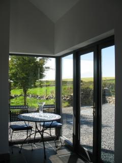 French doors to rear seating area