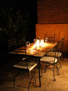 Outside dining.