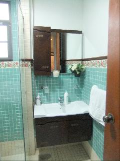 Wash Basin and Cabinet in Shared Bathroom