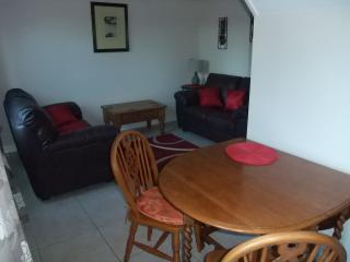 Open plan lounge/kitchen. dining table seats 4