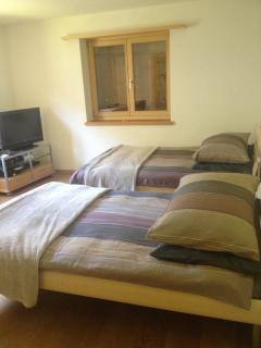 Second Bedroom with Extra-Wide Twin Beds, HD TV with X-box 360, Playsation 3, Wii and En-Suite