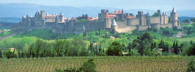 The city of Carcassonne - an hour away.