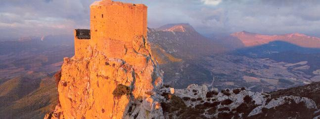 One of the many Cathar castles in the region.