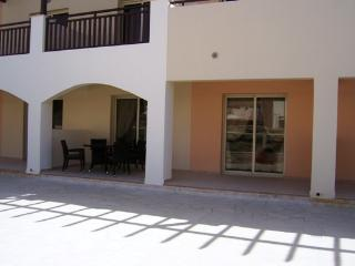 My patio opening onto very tranquil larger terrace with view & sound of waterfall