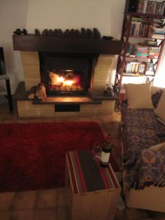 Cosy evenings with a real fire during autumn/winter stays