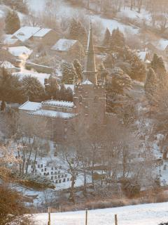 View over Bonsall in Winter
