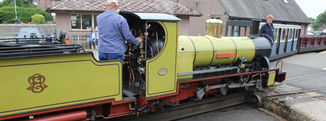 The Eskdale & Ravenglass miniature steam railway runs from the village terminus at Dalegarth