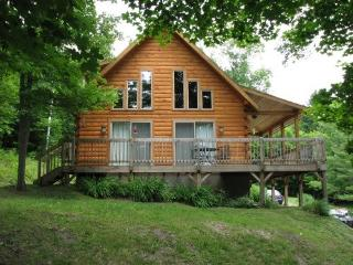 Beautiful, Bright Log Cabin on 90 acres, Tunbridge