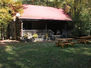Private Log Cabin with Fireplace on 35 acres, Bon Aqua