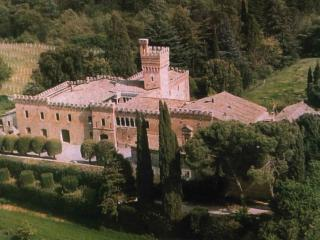 Grand Tuscan countryside castle in Montepulciano, Siena with private gardens and swimming pool