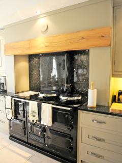 Great family kitchen with wine cellar and storage