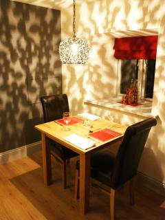 Order dinner for 2 or 4 if you have guests.Private dining for special occasions.