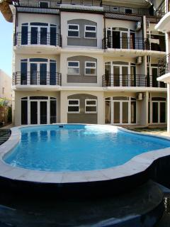 View from the shared swimming pool