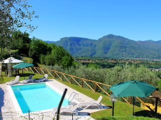 Stunning hillside house in rural Tuscany with private grounds and outdoor pool, sleeps 9, Barga