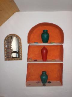 An alcove in the cottage