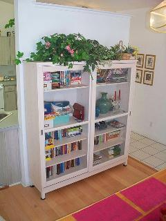 Lots of books for adults and children, plus jig saws and many guide books to borrow .