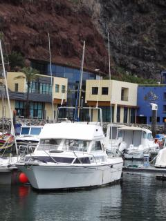 Our boat in the marina at Calheta, we have a full tourist licence and insurance