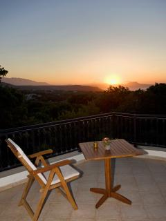 View from the terrace at sunset