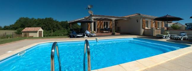 Overlooking pool to terrace and villa