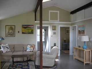 the great room with skylights and vaulted ceiling, The Pine Suite, Cottage Guest, Eastham, MA