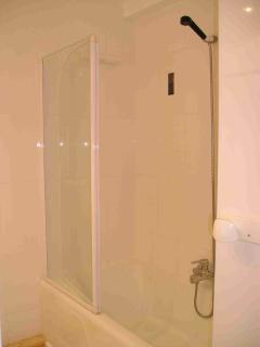 Bathroom with shower and glass shower screen