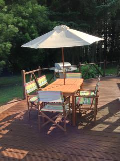 The deck area, ideal for relaxing