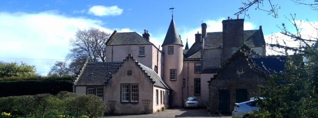Bamff House, the Old Brewhouse is in the foreground.