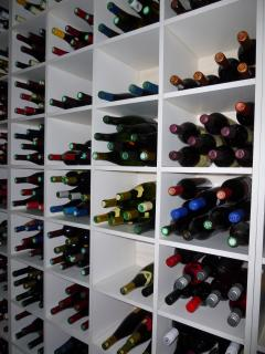 Our Cellar: over 100 different champagne and wines from 13 different countries for great tasting!