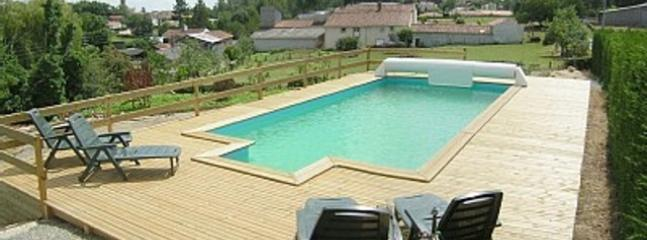 Heated pool with great views of the village